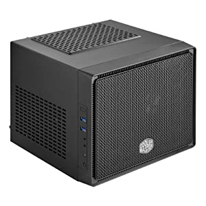 Cooler Master Elite 110 - Cube Style Mini-ITX Computer Case with Standard Size ATX PSU and 120mm Radiator Support