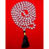 Divya Shakti Sphatik Mala / Crystal Quartz Mala - Diamond Cutting 108+1 Beads 8 MM ( Spiritual Mala AAA Quality )