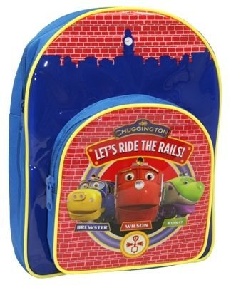Imagen principal de Trade Mark Collections Chuggington - Mochila con bolsillo frontal, color azul y rojo