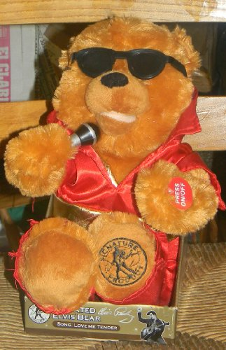 51zmLVaFUdL Reviews ANIMATED ELVIS TEDDY BEAR SINGS love me tender approx. size 15