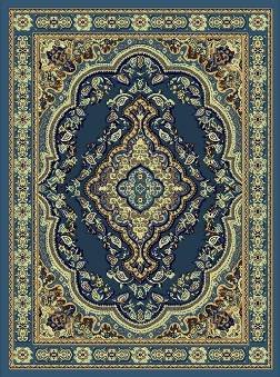 E520 8x10 Persian Design Traditional Medallion Light Blue Hand Carved Carpet Rug Actual Size 7'9