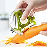 3-in-1 Multifunctional Vegetable, Fruit Peeler & Ceramic Knife Set - Ergonomically Shaped Handle - Easy To Use...