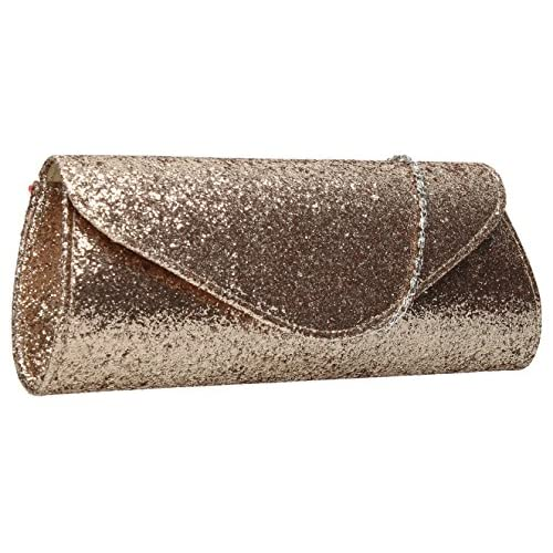 Chloe Sparkly Glitter Party Prom Wedding Evening Ladies Clutch Bag