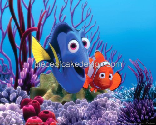 1/4 Sheet ~ Finding Nemo Dory & Nemo Birthday ~ Edible Image Cake/Cupcake Topper!!!
