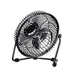 Generic Portable USB Metal Desk Fan 6 inches Black