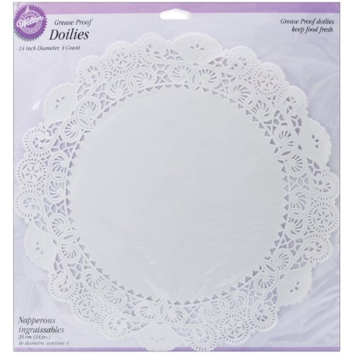 Wilton Greaseproof Doilies, 14-Inch, White Circle, 4-Pack