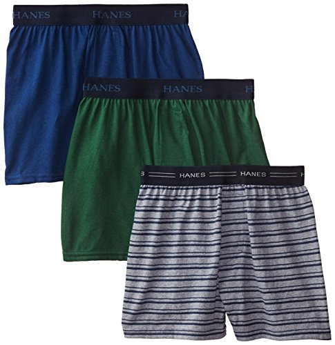 hanes-boys-3-pack-ultimate-comfort-flex-solid-knit-boxer-assorted-large