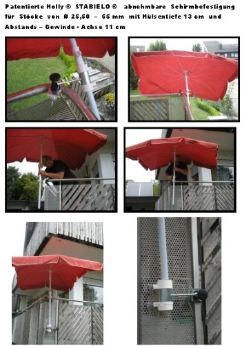 stabielo unih 2 st ck balkon halterung mit. Black Bedroom Furniture Sets. Home Design Ideas