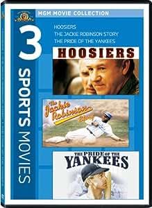 Hoosiers / The Jackie Robinson Story / Pride of the Yankees