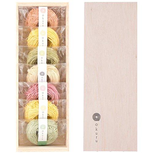 okuru お祝い 内祝い 出産内祝い ギフトセット 三輪素麺 緑黄色野菜入り HI-25A 350g レシピ付き