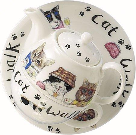 Roy Kirkham Walk The Cat Tea For One Set
