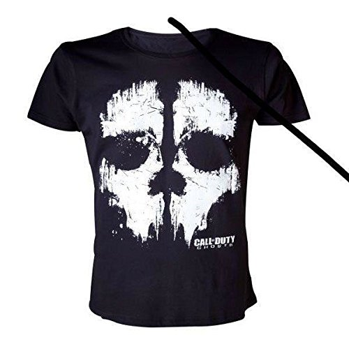 CALL OF DUTY GHOSTS T-SHIRT NERA CON TESCHIO TAGLIA L