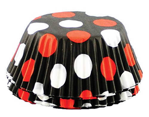 Fox Run Polka Dot Black, Red and White 50 Baking cups (Polka Dot Cookware compare prices)