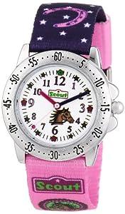 Scout Mädchen-Armbanduhr Analog Quarz Textil 280378065
