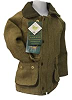 Kids Derby Coat Tweed Shooting Hunting Country Jacket LIGHT SAGE SIZES 20-34