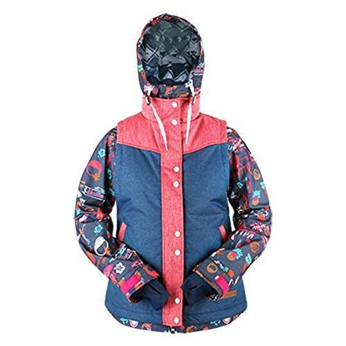 KELLAN(ケラン) ASHLEY JKT アシュレイ ジャケット ベスト セット レディス スノーボードウェア 710802 C-2 ALOHA Mサイズ