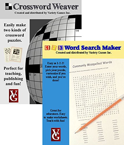 Crossword Weaver + 1-2-3 Word Search Maker, Crossword and Word Search Creation Software for Windows -- Bundle Discount Plus Educator Discount (Crossword Puzzle Software compare prices)