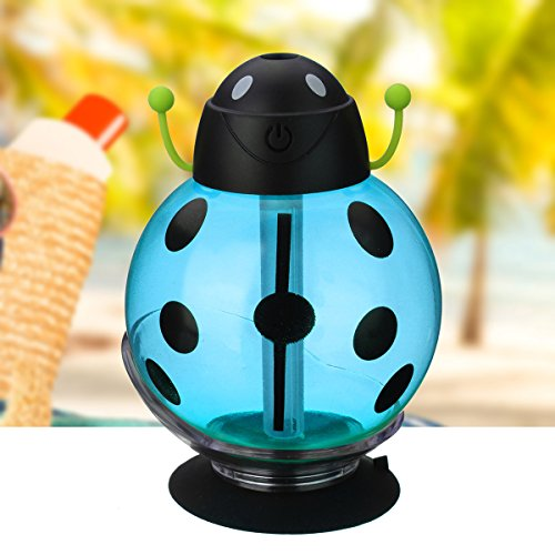 USB Aromatherapy Diffuser LuckyFine Essential Oil Diffuser Mini Portable Air Humidifier Water Diffusers with LED Night Light