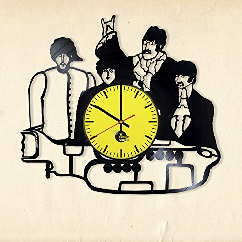 Yellow-Submarine-Beatles-HANDMADE-Vinyl-Record-Wall-Clock-Get-unique-room-wall-decor-Gift-ideas-for-friend-girls-boys-Rock-Music-Band-Unique-Art-Leave-us-a-feedback-and-win-your-custom-clock