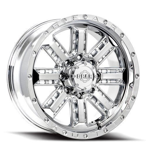 Gear Alloy Nitro 20x9 Chrome Wheel / Rim 6x5.5 & 6x135 with a 18mm Offset and a 108.00 Hub Bore. Partnumber 723C-2096818 (2015 Chevy Silverado Rims compare prices)