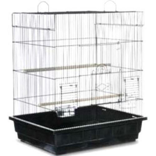Image of Square Roof Parakeet/cockatiel Cage (B007QHD5DE)