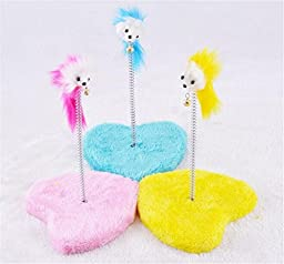 KYZ Colorful Springs Cat Toy With Mouse Pet Dog Funny Toy Cat Dog Favorite Toys 3pack 140g