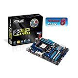 Asus F2A85-V PRO Motherboard (Socket FM2, AMD A85X FCH, 4x DDR3, 7x S-ATA 600, ATX, PCI Express 2.0, eSATA, USB 3.0, Dual Intelligent Processors 3 with DIGI+ Power Control)