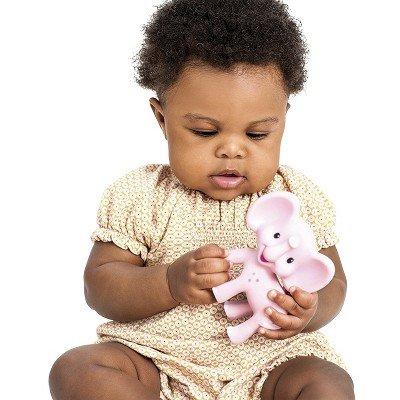 Infantino Go GaGa Squeeze & Teethe Elephant - Pink Kiki - 1