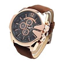 buy Hotlove Men Watches Fashion V6 Super Speed Pu Leather Strap Rose Gold Case Quartz Wristwatches Military Clock Top Selling Fress Shipping