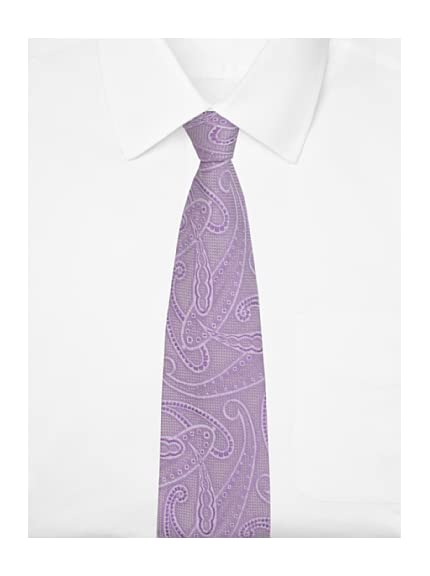 Duchamp Men's Paisley Poise Lace Tie, Chiffon