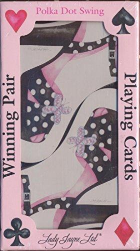 Winning Pair Polka Dot Swing Playing Cards - Shoe Shaped Cards - 1