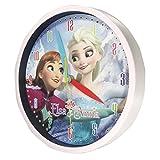 アナ雪がいつもお部屋に アナと雪の女王 壁掛け時計 (ホワイト(アナ&エルサ))