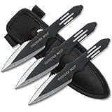 BladesUSA RC-595-3 Throwing Knife Set 5.5-Inch Overall