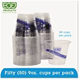 Recycled Content Clear Plastic Cold Drink Cups 9 oz. Clear 50/Pack