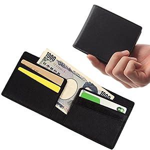 AVOIR(アヴォワール)金具無しで使い易い マネークリップ 薄い 財布 札入れ (ブラック)