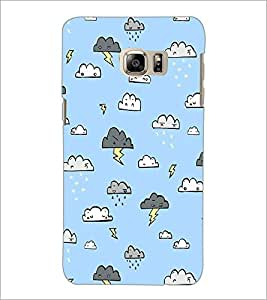 PrintDhaba Cloud Pattern D-1442 Back Case Cover for SAMSUNG GALAXY NOTE 5 (Multi-Coloured)