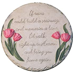 Evergreen 84767 Garden Stepping Stone, If Tears Could Build, 12-Inches Diameter