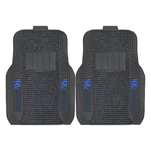 FANMATS NCAA University of Kentucky Wildcats Nylon Face Deluxe Car Mat (Kentucky Wildcats Car Mats compare prices)