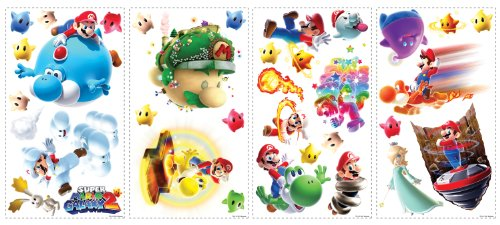 Roommates 871Scs Nintendo Mario Galaxy 2 Peel And Stick Wall Decals - 1
