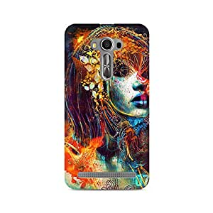 Mobicture Girl Abstract Premium Printed Case For Asus Zenfone 2 Laser ZE500