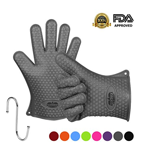 Molecule Gloves High Quality Kitchen Gloves-Heat Resistant Grilling BBQ-New Protective Oven- Grill, Baking, Smoking and Cooking Gloves (Insulated Cover For Smoker compare prices)