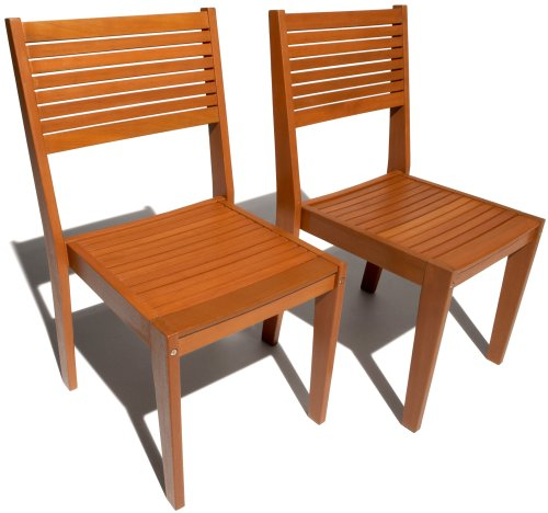 Strathwood Sheffield Stackable Hardwood Dining Chair, Set of 2