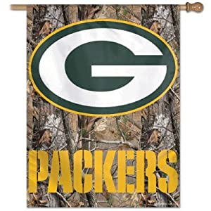 Green Bay Packers Realtree Camo Flag or Banner by Wincraft