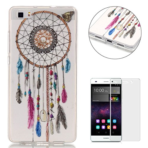 huawei-p8-lite-silicone-gel-case-with-free-screen-protectorcasehome-crystal-clear-shock-proof-soft-d