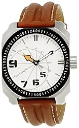 Fastrack Commando Analog White Dial Mens Watch - NE3083SL01