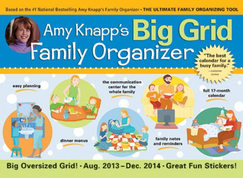 2014 Amy Knapp's Big Grid Family wall calendar: The essential organization and communication tool for the entire family Picture