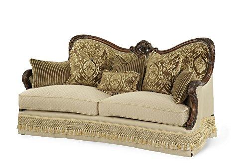 Michael Amini Chateau Beauvais Wood Trim Sofa, Noble Bark (Sofa With Wood Trim compare prices)