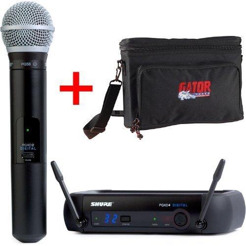 Shure Pgxd24/Pg58 Digital Handheld Wireless System + Gator Gm-1W Wireless Mic Bag