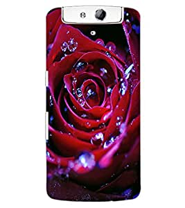 ColourCraft Beautiful Rose Design Back Case Cover for OPPO N1