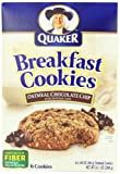Quaker Breakfast Cookies Oatmeal Chocolate Chip, 6-Count Boxes (Pack of 6)